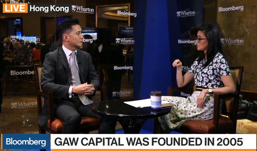 Ông Goodwin Gaw trong một lần trả lời phỏng vấn tại Bloomberg năm 2017 về cơ hội đầu tư bất động sản tại Châu Á.