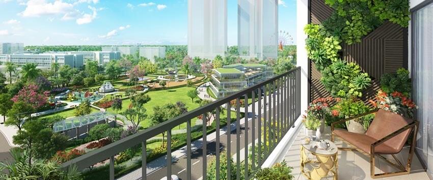 Dự án Eco-green dành 3.5 hectares làm công viên nội khu, ngoài ra còn liền kề công viên Hương Tràm 22 hectares.