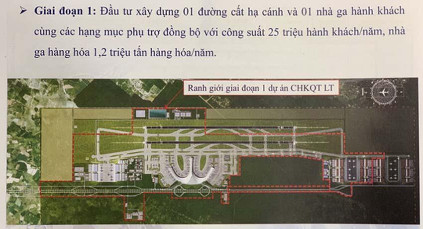 Giai đoạn 1 dự án sân bay quốc tế Long Thành - cảng hàng không quốc tế Long Thành, Đồng Nai.