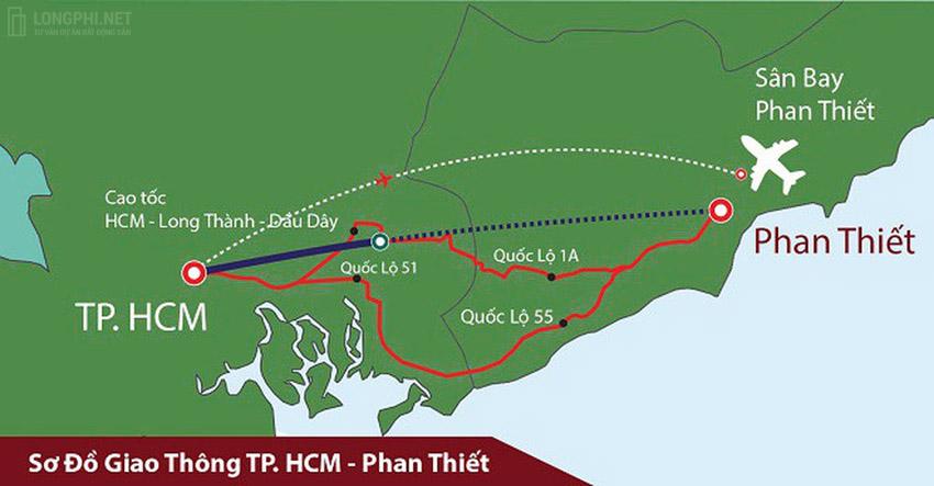 Phan Thiết là địa phương du lịch có lợi thế về hạ tầng giao thông đường bộ, đường hàng không và đường thủy, cũng là cơ sở cho phát triển bất động sản.