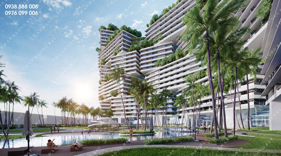 Phối cảnh căn hộ biển Thanh Long Bay, Phan Thiết.