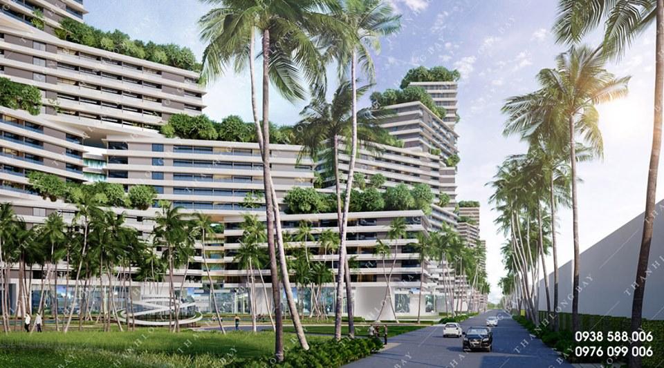 Nét kiến trúc độc đáo kết hợp cùng nhiều mảng xanh trong thiết kế của dự án Thanh Long Bay Phan Thiết.