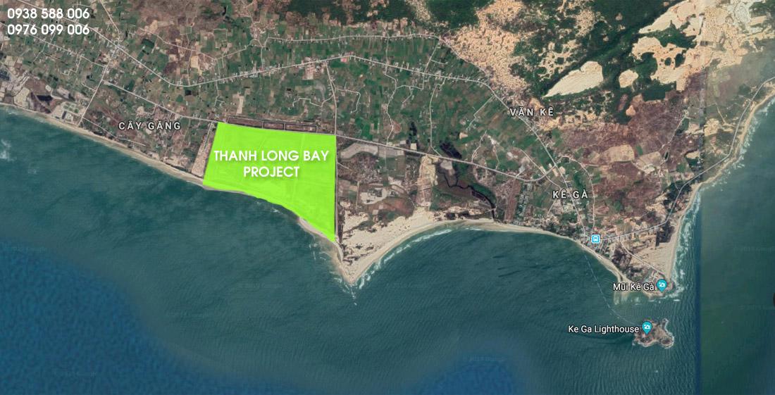 Bản đồ vị trí dự án Thanh Long Bay Phan Thiết (đồ họa Google Maps).