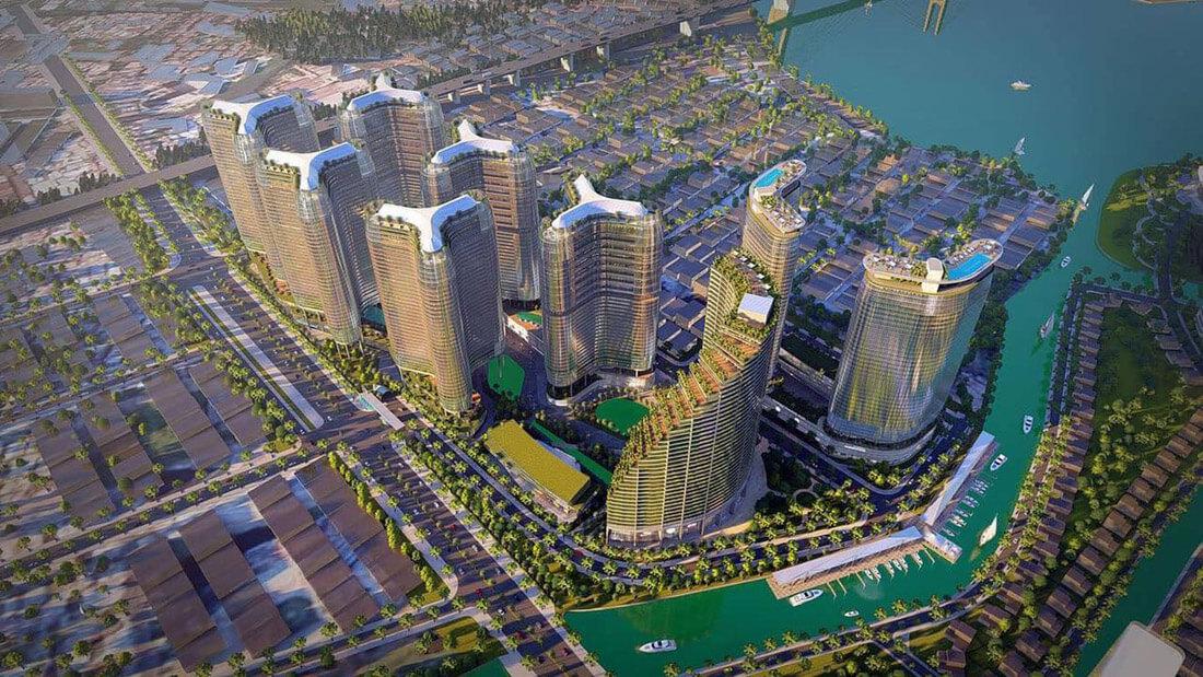 Phối cảnh tổng thể dự án căn hộ Sunshine Diamond River quận 7 - Sunshine group.