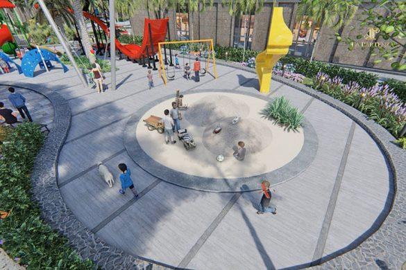 Tiện ích khu vui chơi trẻ em tại dự án căn hộ La Partenza Nhà Bè.