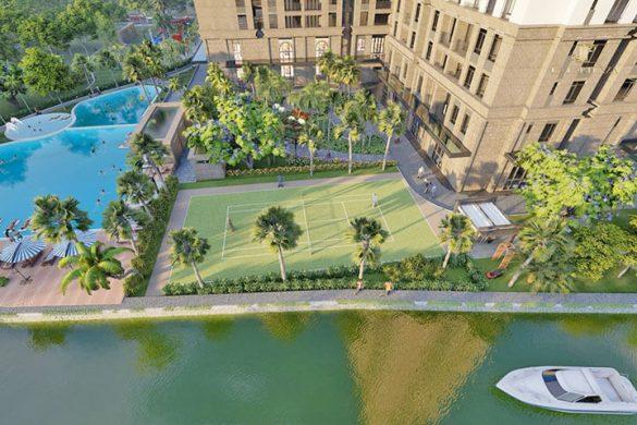 Tiện ích sân tennis nội khu tại dự án căn hộ La Partenza Nhà Bè.Tiện ích sân tennis nội khu tại dự án căn hộ La Partenza Nhà Bè.