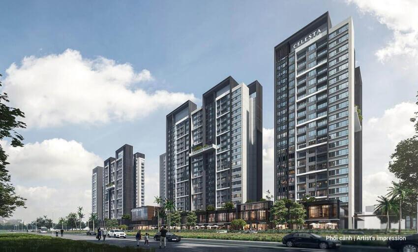 Phối cảnh căn hộ Celesta Rise Nhà Bè của Keppel Land và Phú Long phát triển.