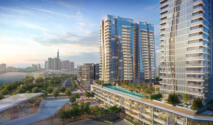 Phối cảnh giai đoạn The Opera Residence tại dự án The Metropole Thủ Thiêm Q2.